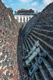 Templo中心市长,墨西哥城的历史的 免版税库存照片
