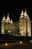 Templo 4 do Natal do Mormon Fotografia de Stock