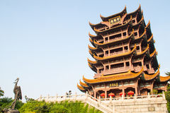 Templo amarelo de Crane Tower em wuhan, China Fotografia de Stock Royalty Free