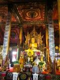 TEMPLO Amphoe Chiang Kham de Phayao TAILANDIA agosto 4,2018 WAT NANTARAM foto de archivo libre de regalías