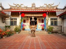 Templo ancestral en Taiwán Imágenes de archivo libres de regalías