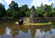 Templo Angcor de Preah Neak Pean. Siem Reap. Cambodia imagem de stock royalty free