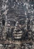 Templo Angkor Thom de Bayon da estátua, Camboja Archite antigo do Khmer Fotografia de Stock