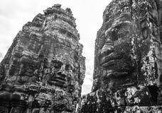 Templo Angkor Thom de Bayon da estátua, Camboja Archite antigo do Khmer Imagem de Stock Royalty Free