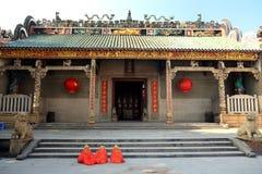 Templo antigo chinês da mãe do dragão, templo de Longmu Imagem de Stock Royalty Free