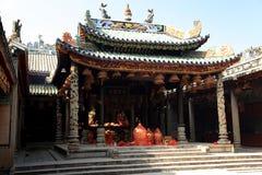 Templo antigo chinês da mãe do dragão, templo de Longmu Fotografia de Stock