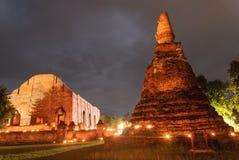 Templo antigo de Ayutthaya Fotos de Stock Royalty Free
