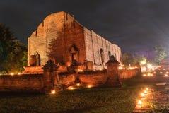 Templo antigo de Ayutthaya Imagens de Stock Royalty Free