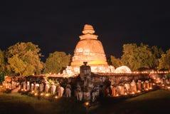 Templo antigo de Ayutthaya Foto de Stock Royalty Free