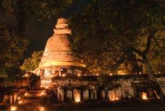 Templo antigo de Ayutthaya Fotografia de Stock