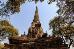 Templo antigo de buddha em Banguecoque, Tailândia fotografia de stock royalty free