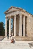 Templo antigo do imperador Augustus. Pula. Istria. Croácia Imagens de Stock