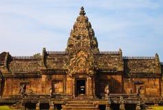 Templo antigo do tijolo, um destino tailandês famoso do curso de turista fotografia de stock