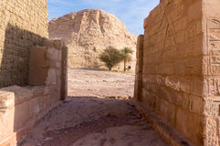 Templo antigo em Egito engravings imagem de stock royalty free