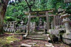 Templo antigo em Koya San Wakayama Osaka fotografia de stock royalty free