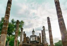 Templo antigo em Sukhothai, Tailândia imagem de stock royalty free