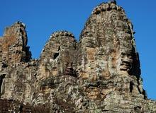 Templo antigo monumental de Bayon em Camboja Templo medieval em Indochina Arte arquitetónica de civilizações antigas fotos de stock royalty free