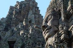 Templo antigo monumental de Bayon em Camboja Templo medieval em Indochina Arte arquitetónica de civilizações antigas imagens de stock