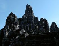 Templo antigo monumental de Bayon em Camboja Templo medieval em Indochina Arte arquitetónica de civilizações antigas Bayon foto de stock