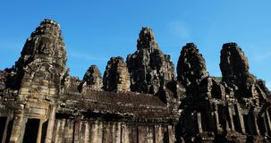 Templo antigo monumental de Bayon em Camboja Templo medieval em Indochina Arte arquitetónica de civilizações antigas Bayon imagens de stock