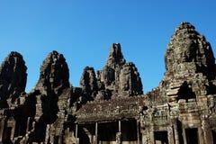 Templo antigo monumental de Bayon em Camboja Templo medieval em Indochina Arte arquitetónica de civilizações antigas Bayon imagem de stock royalty free