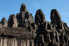 Templo antigo monumental de Bayon em Camboja Templo medieval em Indochina Arte arquitetónica de civilizações antigas Bayon imagem de stock