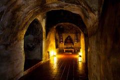 Templo antigo Wat Umong de Tailândia da Buda Foto de Stock