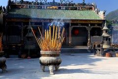 Templo antiguo chino de la madre del dragón, templo de Longmu foto de archivo