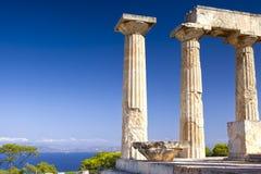 Templo antiguo de Aphaia en la isla de Aegina, Grecia Fotografía de archivo libre de regalías