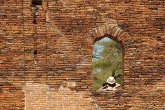 Templo antiguo de Buda en Ayutthaya Bangkok, Tailandia fotos de archivo libres de regalías