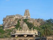 Templo antiguo de la cumbre en la India meridional Imagen de archivo libre de regalías