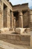 Templo antiguo de Medinet Habu Egipto Imagen de archivo libre de regalías