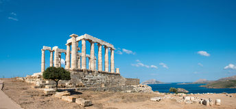 Templo antiguo de Poseidon imagen de archivo libre de regalías