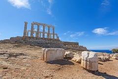 Templo antiguo de Poseidon fotos de archivo libres de regalías