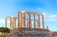 Templo antiguo de Poseidon foto de archivo