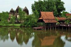 Templo antiguo del khmer Imagen de archivo