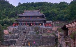 Templo antiguo del kungfu en la montaña China de Wudangshan imagen de archivo