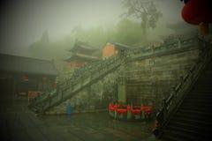 Templo antiguo del kungfu en la montaña China de Wudangshan foto de archivo libre de regalías