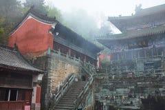Templo antiguo del kungfu en la montaña China de Wudangshan imágenes de archivo libres de regalías