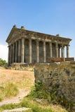 Templo antiguo en Garni, Armenia Templo pagano armenio viejo adentro I n e en Armenia Fotografía de archivo libre de regalías