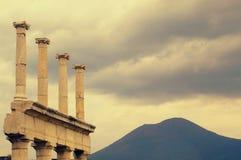 Templo antiguo en Pompeya Fotografía de archivo