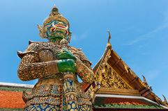 Templo antiguo Tailandia del palacio de los reyes de Bangkok Foto de archivo libre de regalías