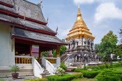 Templo antiguo, templo de Wat Chiang Man Foto de archivo