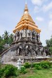 Templo antiguo, templo de Wat Chiang Man Imagen de archivo