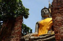 Templo antiguo y estatua Buda de Ayutthaya Tailandia Imagenes de archivo