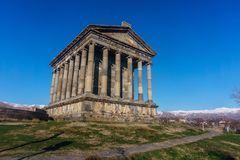 Templo Armênia de Garni Fotografia de Stock Royalty Free