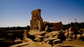 Templo arruinado de Amun en Umm el ` Ubeida, Siwa, Egipto Imagen de archivo