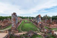 Templo arruinado, Wat Phra Si Sanphet, en el parque histórico de Ayutthaya Fotos de archivo libres de regalías