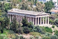Templo Atenas Grecia de Hephaestus Imagen de archivo libre de regalías