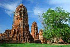 Templo Ayuttaya Tailandia de Mahatad Imagen de archivo